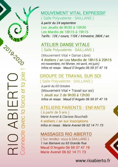 SAILLANS ( Drôme) - PROGRAMME 2020