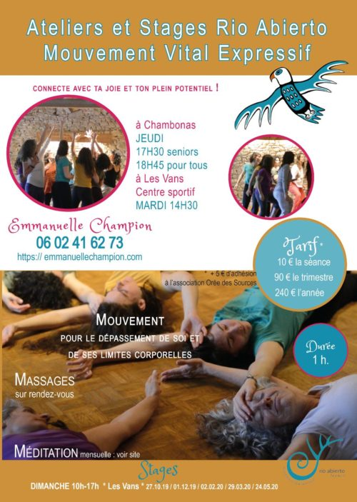 LES VANS / CHAMBONAS ( Ardèche) - PROGRAMME 2020